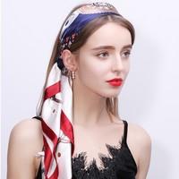 上海故事 女士四方形真絲圍巾 90cm