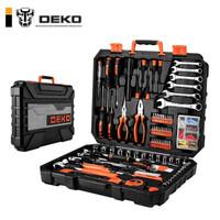 DEKO五金工具箱多功能家用工具套裝 208件套