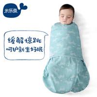 米樂魚 嬰兒睡袋新生兒童寶寶秋冬抱被夾棉防踢被斑馬王國66碼