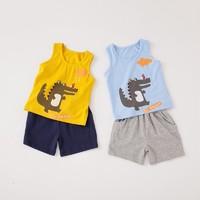 Purrfect diary 咕嚕日記 兒童卡通鱷魚上衣短褲2件套套裝1-8歲