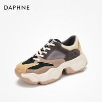 DAPHNE 达芙妮 撞色厚底老爹鞋