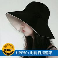 漁夫帽女夏韓版百搭日系遮陽帽子防曬紫外線大沿夏天太陽帽潮遮臉