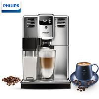 飛利浦(PHILIPS)咖啡機 家用意式全自動咖啡機帶奶泡系統儲奶容器 EP5365/12