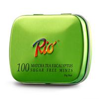 RIO 瑞歐 無糖薄荷糖 尤加利綠茶味 15g 盒裝 *21件