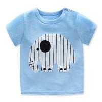 千伊文 兒童T恤1-6歲卡通圖案優質純棉兒童休閑韓風短袖T恤
