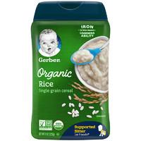 嘉寶Gerber嬰幼兒輔食有機大米米粉一段6個月以上227g/罐
