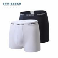 SCHIESSER 舒雅 35/11627T 男士冰丝中腰平角内裤 2条装