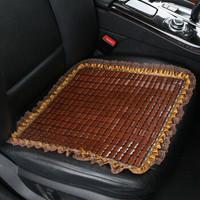 夏季汽車坐墊竹片麻將涼席三件套小車前排單片座墊
