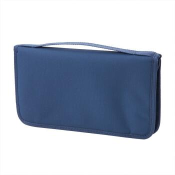 MUJI 聚酯纖維護照夾 帶透明內袋 海軍藍 約23.5×13×2.5cm
