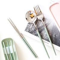 不銹鋼便攜餐具 勺子筷子套裝