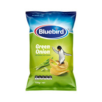 新西蘭進口Bluebird藍鳥香蔥味薯片(膨化食品)150g  (新老包裝隨機發貨)網紅辦公室休閑零食 *14件