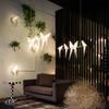 北歐創意客廳背景墻壁燈酒店過道紙鶴墻燈現代簡約溫馨臥室床頭燈