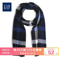Gap男裝格子圍巾秋冬527904 流行格紋男士時尚流蘇邊圍脖