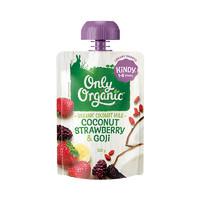 onlyorganic 奧莉有機寶寶果泥 1-5歲椰子草莓&枸杞椰奶味100g*3袋