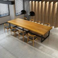 qbd 北欧实木桌 120*60*75木厚3cm 倒圆角内斜切