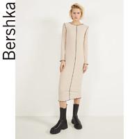 Bershka女士 2020新款接縫設計羅紋長款打底連衣裙 00389296710