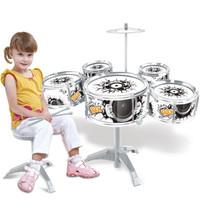 紐奇  兒童架子鼓 爵士鼓敲打鼓早教益智玩具寶寶音樂打擊樂器3-6歲 基礎版NO.XV755-3 *2件