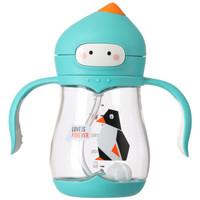 日康(rikang) 寶寶學飲杯嬰兒水杯 重力球兒童吸管杯飲水杯240ml(綠)RK-B1032 *2件