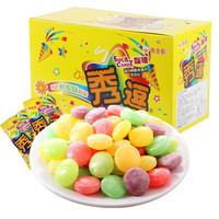 秀逗 爆酸水果糖 檸檬味15g*12袋/盒 *8件