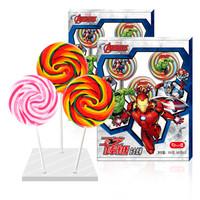 京東PLUS會員 : 好心情 漫威系列水果味彩虹波板糖85g*3支禮盒裝 *3件