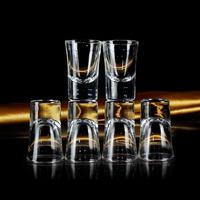 家用玻璃白酒杯分酒器套裝小酒盅高腳杯子彈杯白酒杯送禮盒套裝