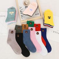 頌織 純棉日系中筒襪 5雙