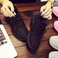 夏季新款運動鞋女鞋休閑跑步網鞋