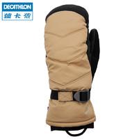 迪卡儂 手套冬羽絨保暖戶外滑雪 防水成人滑雪手套分指WEDZE1