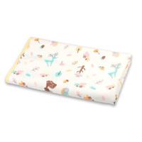 嬰兒 隔尿墊 可洗夾棉 月經墊 透氣 小鹿刺猬 尺碼70*120
