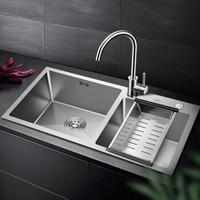 VATTI 华帝 092204 304不锈钢手工加厚水槽洗碗池 配龙头