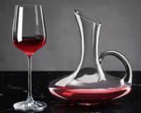 青蘋果 紅酒杯套裝 水晶紅酒杯帶把醒酒器 6杯酒架 *3件