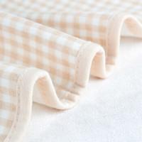 遇童歡 嬰兒隔尿墊  精梳棉可機洗 護理墊   月經墊 棕色方格100*150