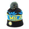 國際米蘭俱樂部針織棉帽-藍黑色