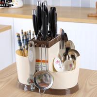 廚房置物插菜刀架多功能廚具瀝水灶臺收納