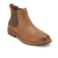 復活節狂歡、銀聯專享 : DOCKERS Slip-On 男士皮革拼接西靴