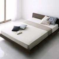 择木宜居 日式板式床+床垫组合 1.2m