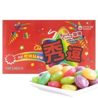 秀逗 爆酸水果糖 櫻桃味 15g*12袋/盒 *8件