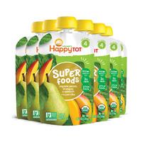 【直營】HappyBaby禧貝有機雪梨芒果菠菜果蔬泥120g/袋*6