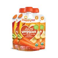 【直營】HappyBaby禧貝有機熱愛蔬菜果蔬泥胡蘿卜香蕉120g*2