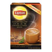 立頓Lipton 絕品醇比利時風情巧克力奶茶粉 沖調飲品19g*10包 速溶固體飲料 *2件
