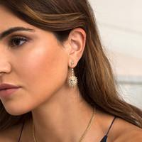 APM MONACO 女士金色獅子耳環\/耳飾 AE10605XKRY