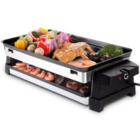 克來比(KLEBY)電燒烤爐 家用無煙韓式電烤盤 雙層加深烤盤 KLB9028
