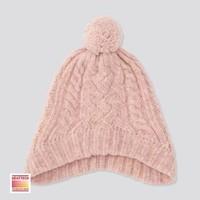 UNIQLO 優衣庫 女童HEATTECH防風針織護耳帽