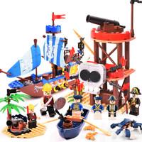 GUDI 古迪 積木海盜系列 死亡島9109+海盜據點9112 *4件