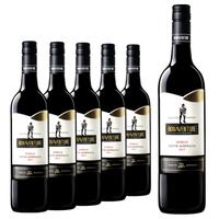紅酒整箱澳洲原瓶原裝進口西拉干紅葡萄酒博納旺蒂正品情侶螺旋蓋750ML 進口紅酒整箱特價
