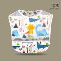司櫻 嬰兒卡通雙層防水飯兜