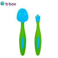 b.box 澳洲 嬰兒彎頭創意叉勺套裝 海水藍 (bbox訓練勺 寶寶兒童餐具叉子勺子) *2件