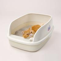 京東PLUS會員 : 貓樂適 貓砂盆 大面包半封閉式貓砂盆