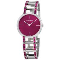 Calvin Klein 卡爾文·克萊 石英粉紅色表盤女士腕表
