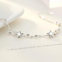 銀千惠 SL0160A 女士純銀星星手鏈